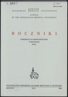 Annales Academiae Medicae Stetinensis = Roczniki Pomorskiej Akademii Medycznej w Szczecinie. 2004, 50, 3