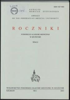 Annales Academiae Medicae Stetinensis = Roczniki Pomorskiej Akademii Medycznej w Szczecinie. 2005, 51, 3