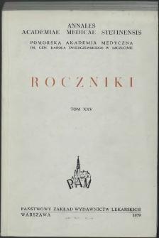 Annales Academiae Medicae Stetinensis = Roczniki Pomorskiej Akademii Medycznej w Szczecinie. 1979, 25