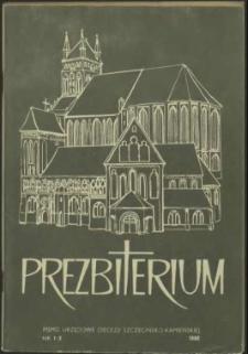 Prezbiterium. 1986 nr 1-3