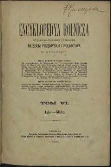 Encyklopedya rolnicza. T. 6. Łąki - Mleko