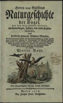 Naturgeschichte der Vögel. Bd. 4