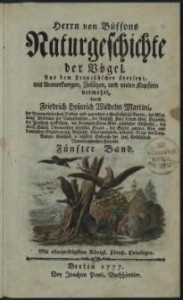 Naturgeschichte der Vögel. Bd. 5