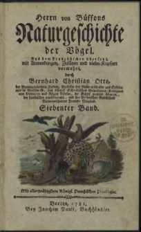 Naturgeschichte der Vögel. Bd. 7