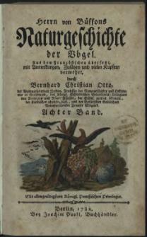 Naturgeschichte der Vögel. Bd. 8