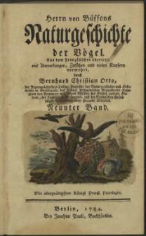 Naturgeschichte der Vögel. Bd. 9