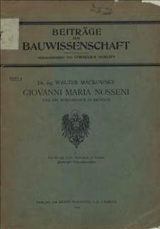 Giovanni Maria Nosseni und die Renaissance in Sachsen