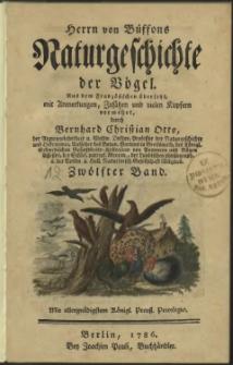 Naturgeschichte der Vögel. Bd. 12