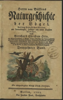 Naturgeschichte der Vögel. Bd. 13
