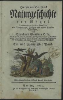 Naturgeschichte der Vögel. Bd. 21