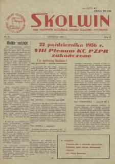 Skolwin : pismo pracowników Szczecińskich Zakładów Celulozowo-Papierniczych. R.2, 1956 nr 21